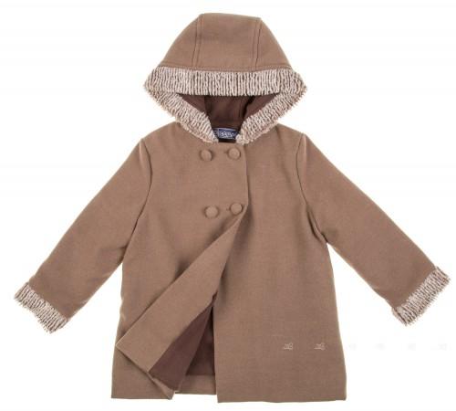 Abrigo capucha paño & polar topo