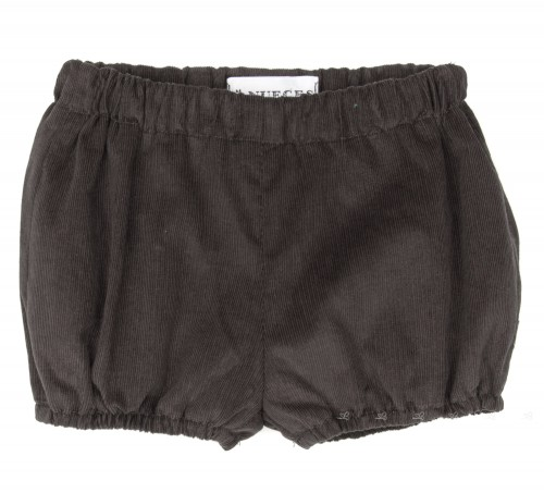 Brown Gray Corduroy Shorts