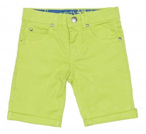 Boys Lime Green Bermuda Shorts