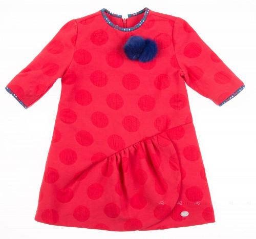 Vestido Rojo Pompones Colección Brit Pop