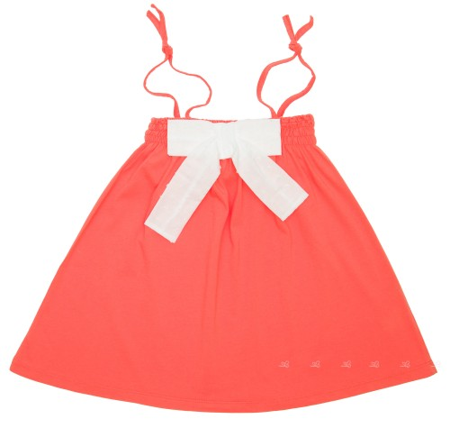 Coral Pink Jersey Sleeveless Dress