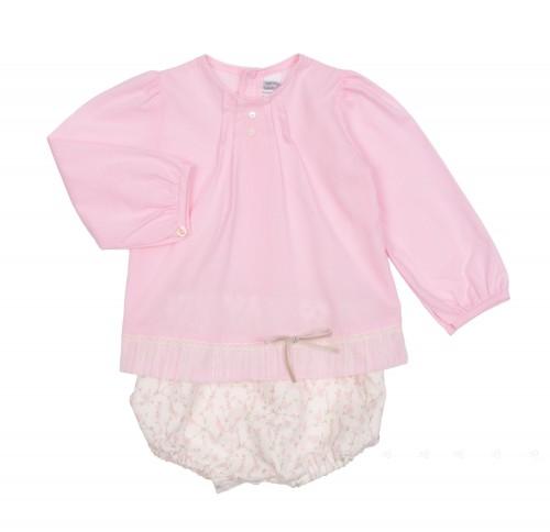 Conjunto blusa & short rosa