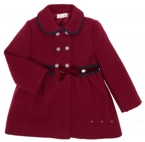 Girls Burdundy & Blue Coat