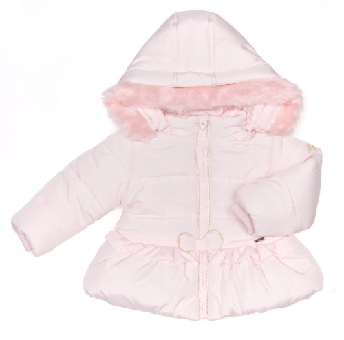 Baby Pink Padded Jacket with Removible Hood