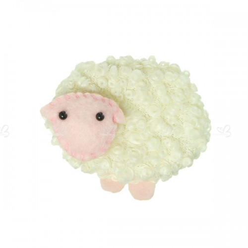 Wool Curly Sheep hair clip