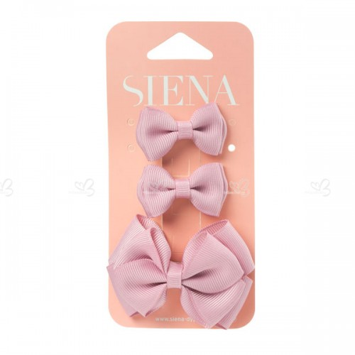 Grosgrain bow hair clip 3 piece pack