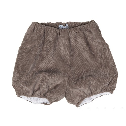 Gray Corduroy Shorts