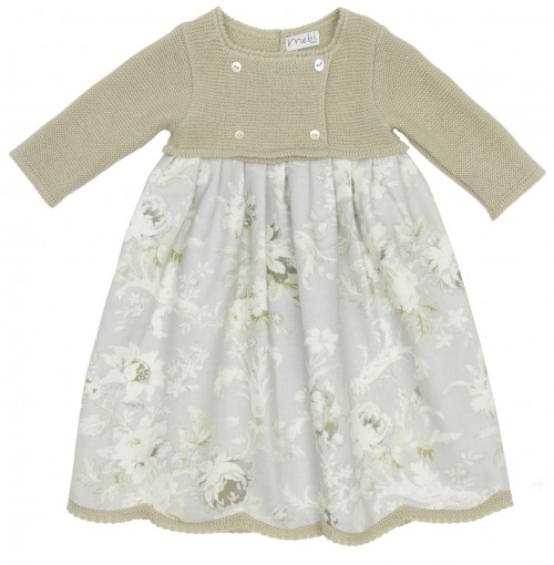 Baby Siena & Floral Print Day Gown