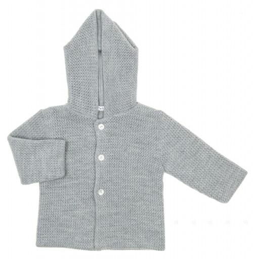Beige Soft Knitted Pram Coat