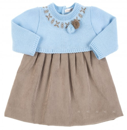 Blue and Brown Baby Dress