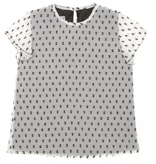 White & Black Polka Dot Blouse