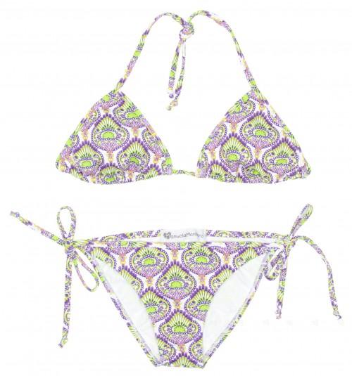 """Purple & Green """"Lima"""" Bikini"""