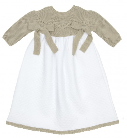 Baby Siena & White Day Gown with Bows