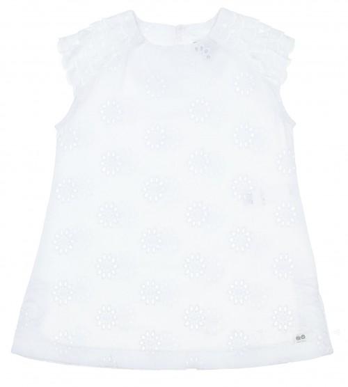 Girls White Broderie Beach Dress