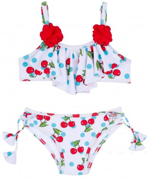 Dolce Petit Bikini Niña Cerezas Rojo & Volante