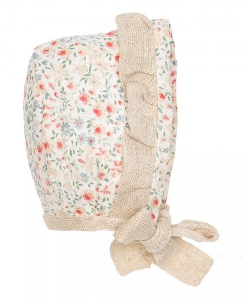 Beige floral Bonnet