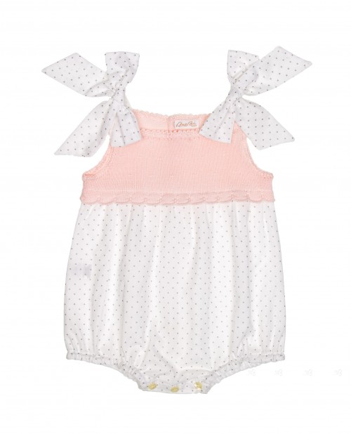 Pink & White Extra Soft Cotton Polka Dot Shortie
