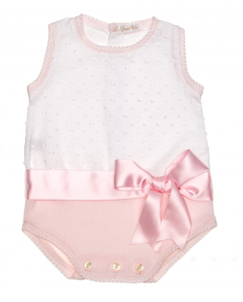 Pink & White Polka Dot Knitted Shortie