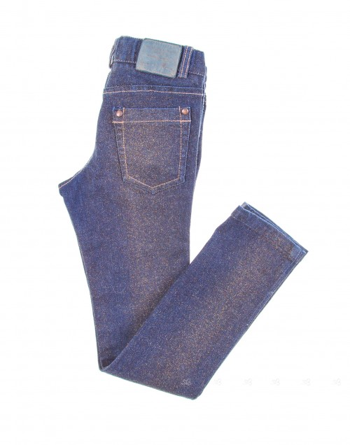Girls Blue Sparkle Denim Jeans