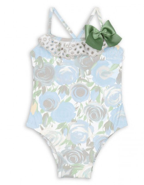 Green Floral Swimsuit