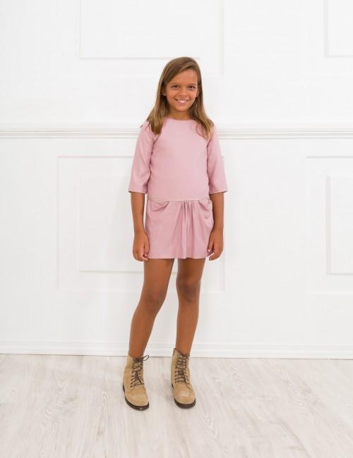Blush Pink Viscose Elena Dress