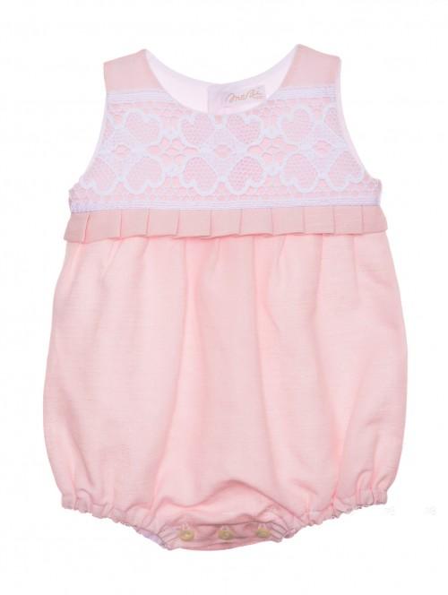Pelele bebe color rosa Mebi verano