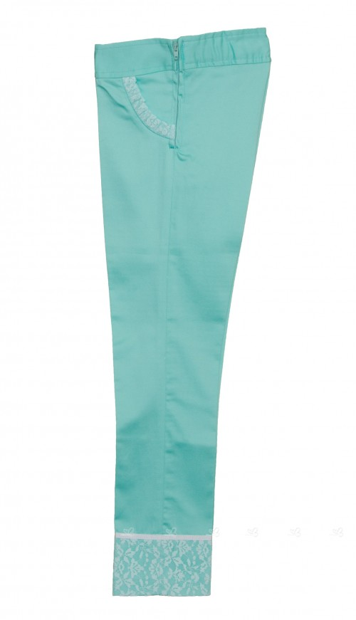 Pantalon niña verde agua Ballet  Kauli verano