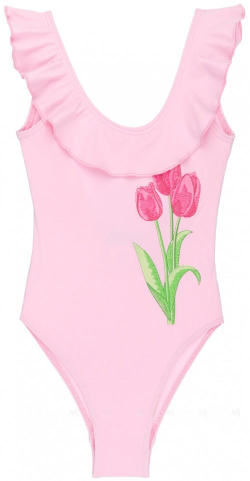 Rochy Bañador Niña Tulipán & Volante Rosa