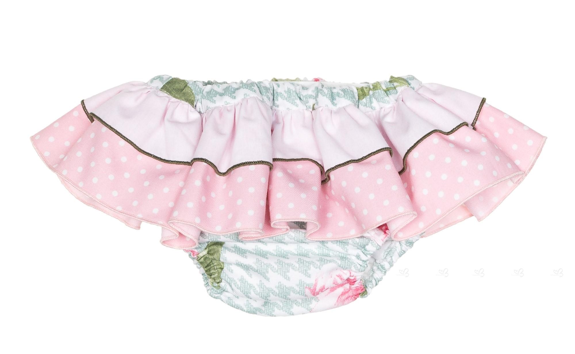 Baby Girls Green & Pink Houndstooth 2 Piece Sweater Set | Missbaby