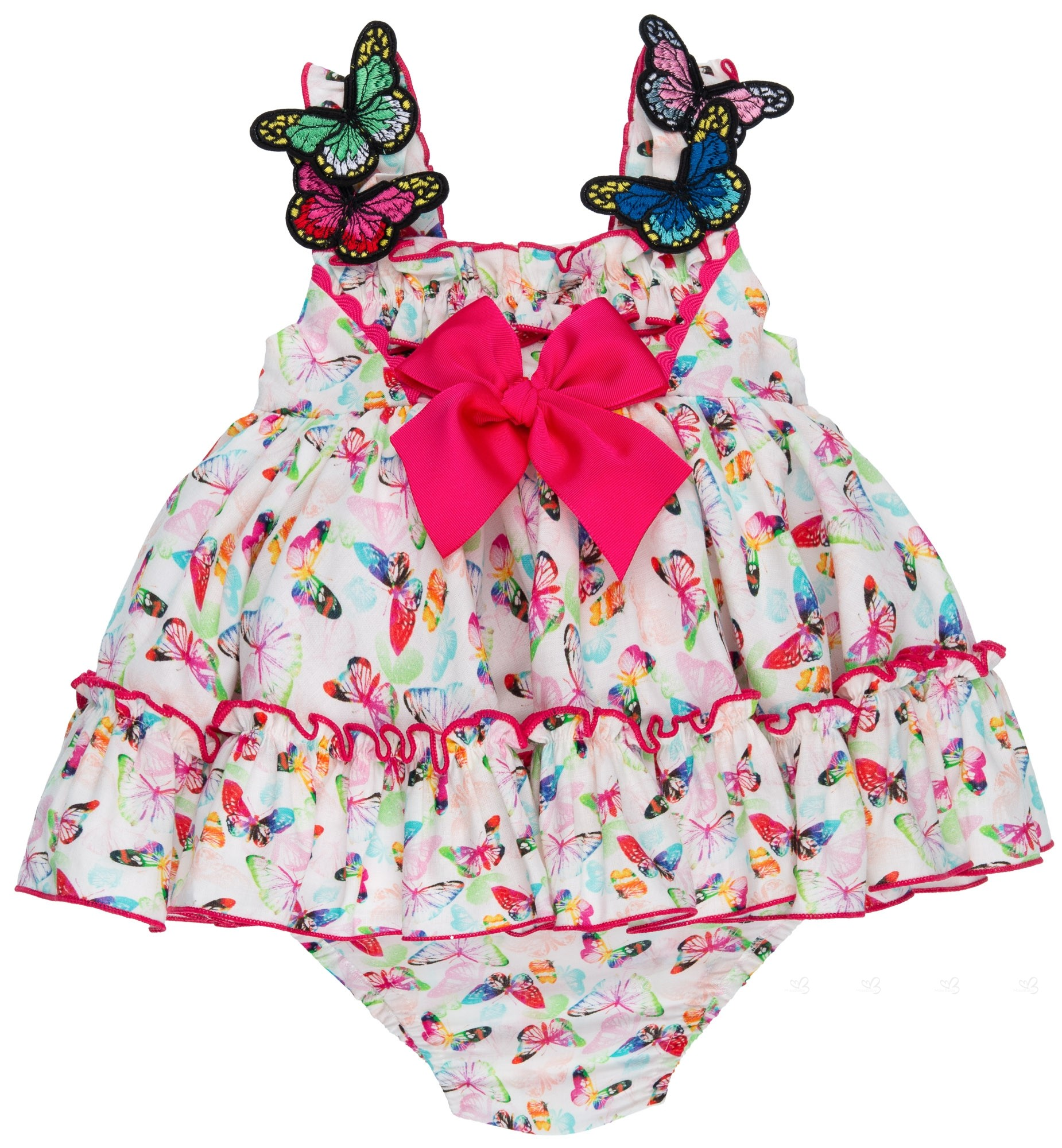 2d40ccf97 Baby Girls Colorful Butterfly 2 Piece Dress Set