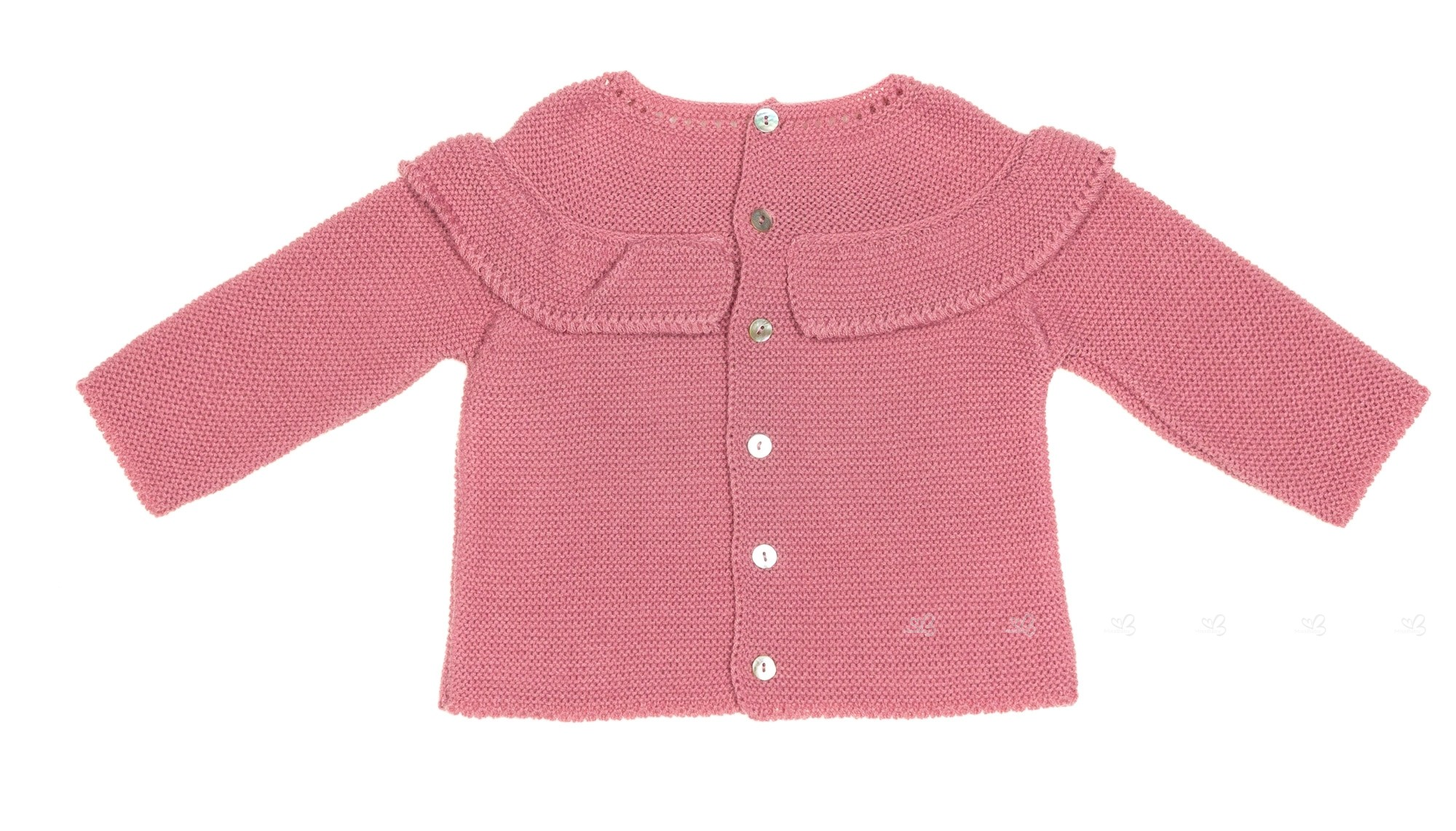 Baby Dusky Pink Knitted 3 Piece Sweater Set | Missbaby