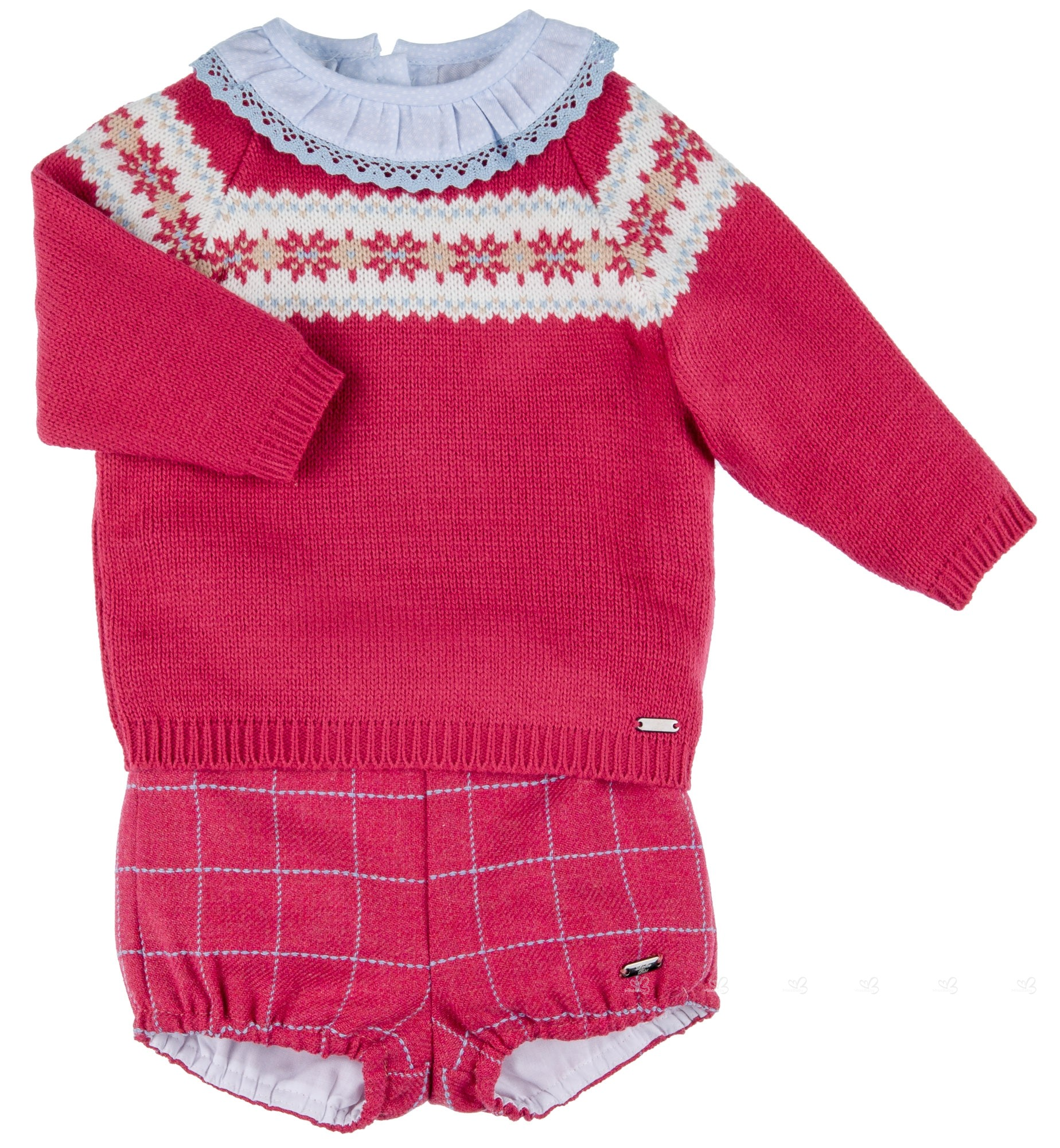 1b297b25b Dolce Petit Baby Strawberry Red & Blue 3 Piece Shorts Set | Missbaby