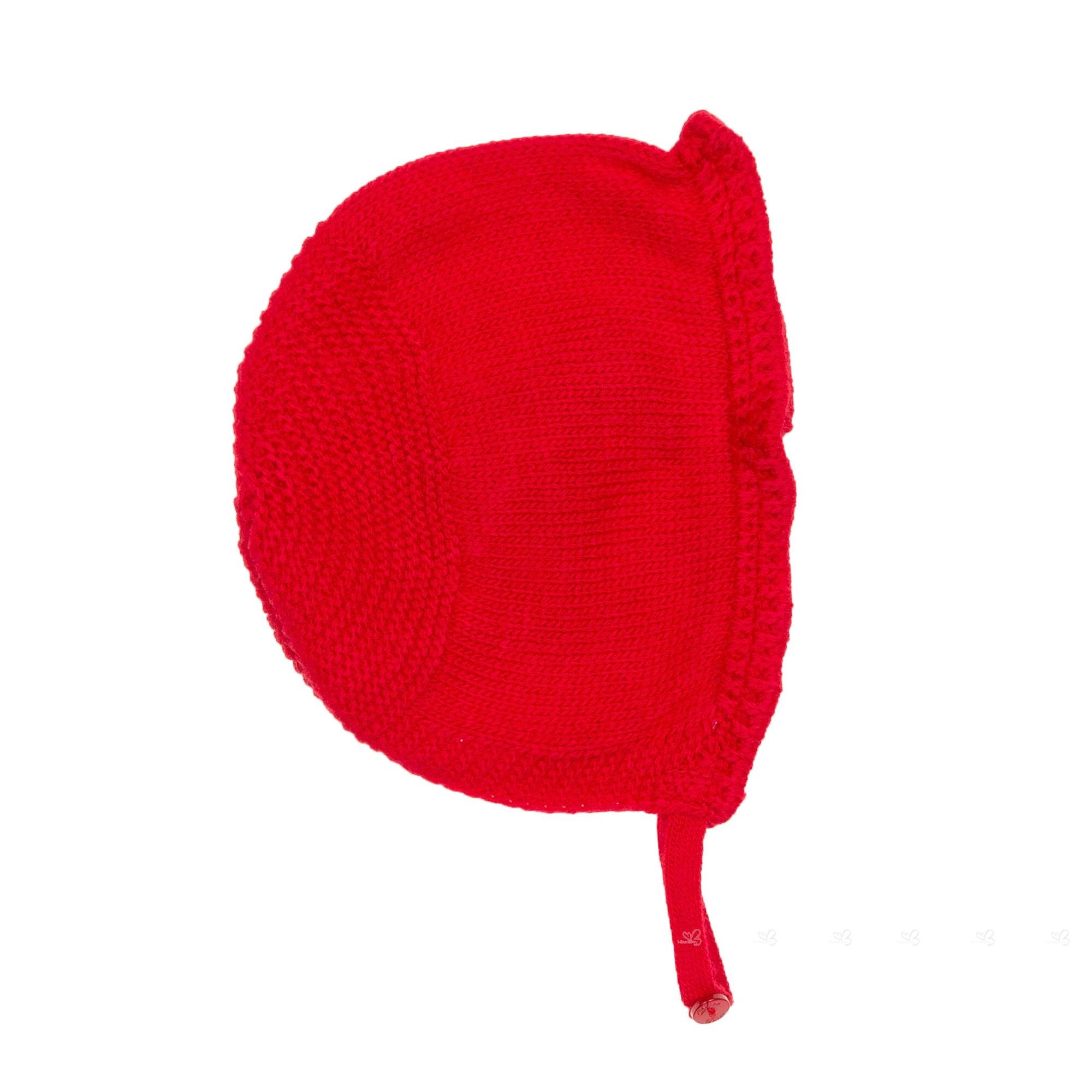 ed870548ce00 Dolce Petit Baby Girls Red Knitted Pram Coat   Bonnet Set