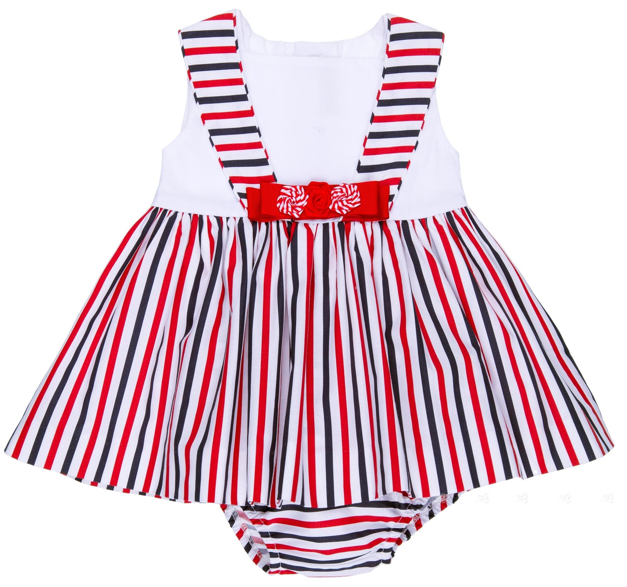 ee77d4b1b Home; Baby Girls Red & Blue Striped Sailor 2 Piece Dress Set. Dolce Petit  Jesusito 2 Piezas Bebé Marinero Rayas Rojo & Marino ...