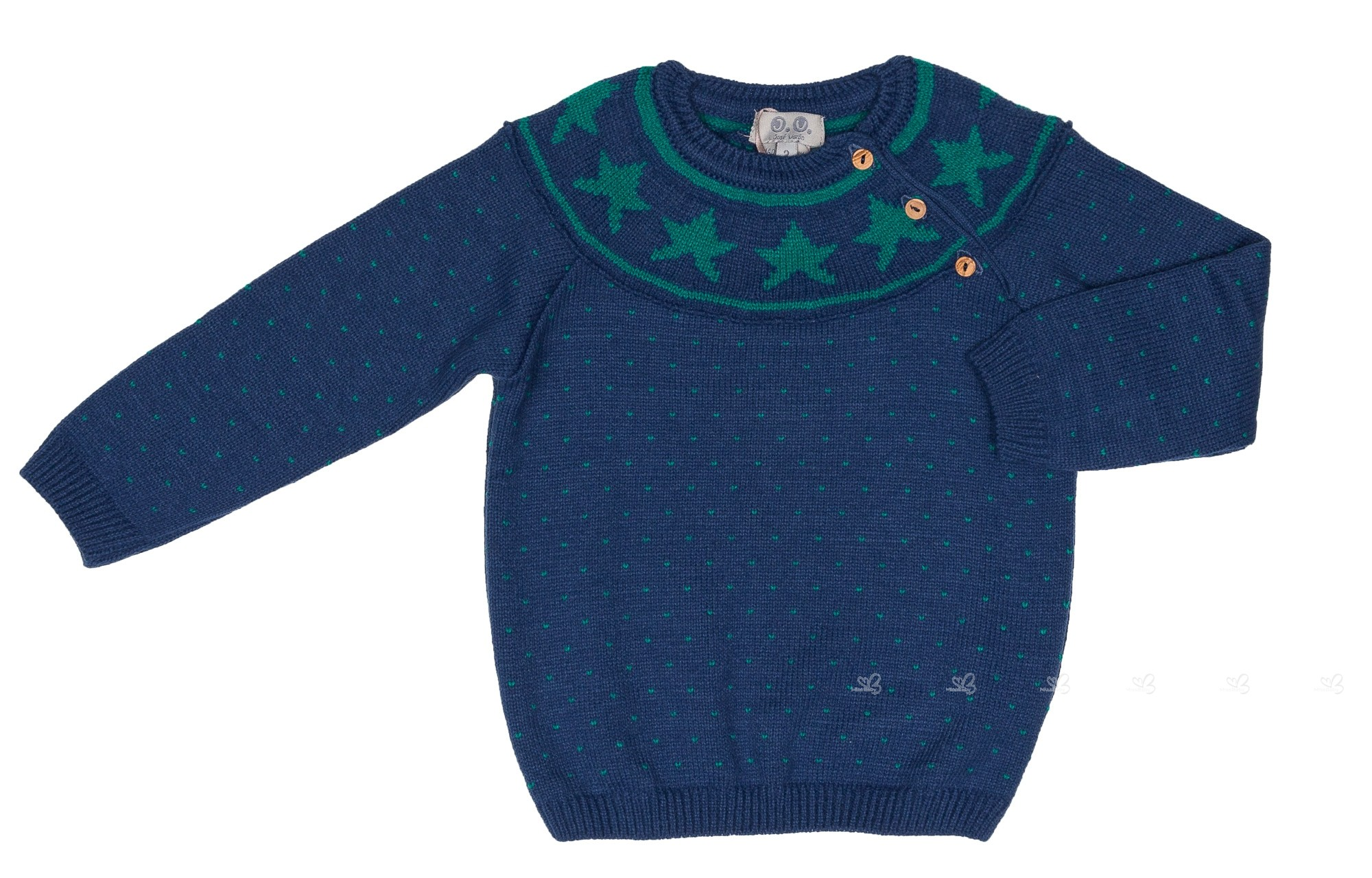 147e75379 Baby Boys Navy Blue   Green Stars Knitted Sweater