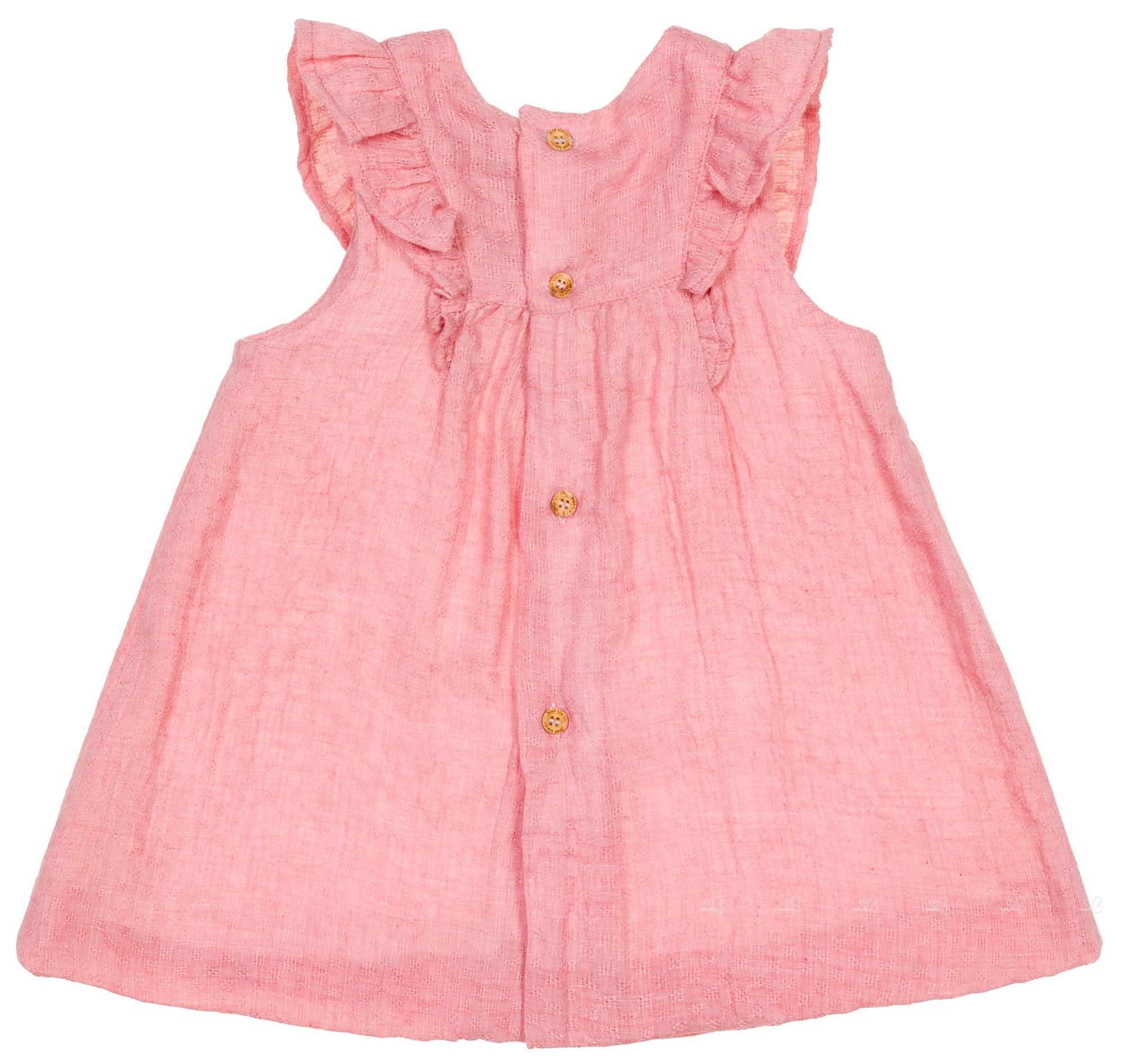 4f96f5243f38 J.V. Girls Pink Ruffle Muslin Dress