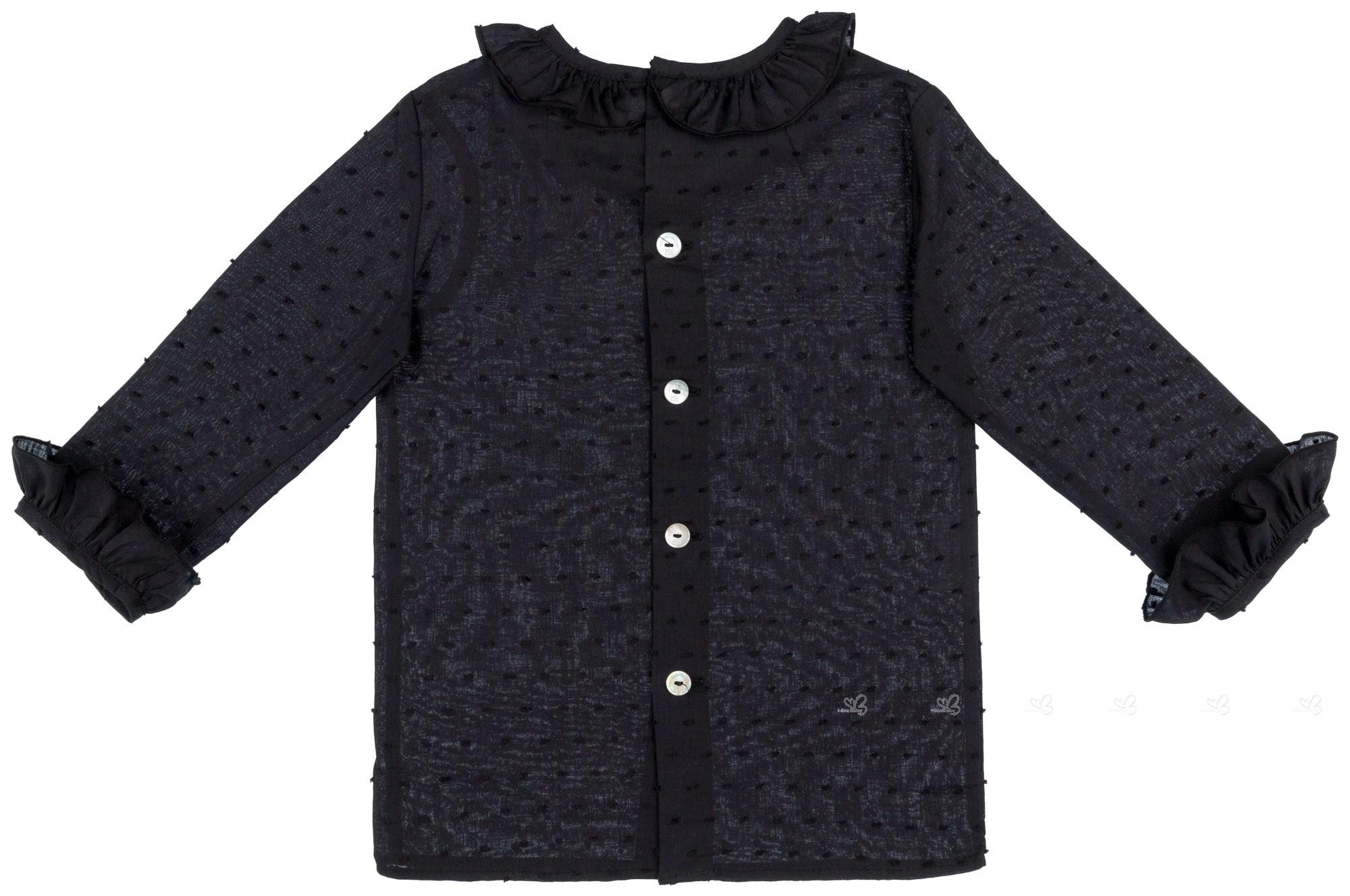 ... Girls Black Blouse   Beige Penguin Ruffle Dungaree Shorts Set ... b764fbbae1b