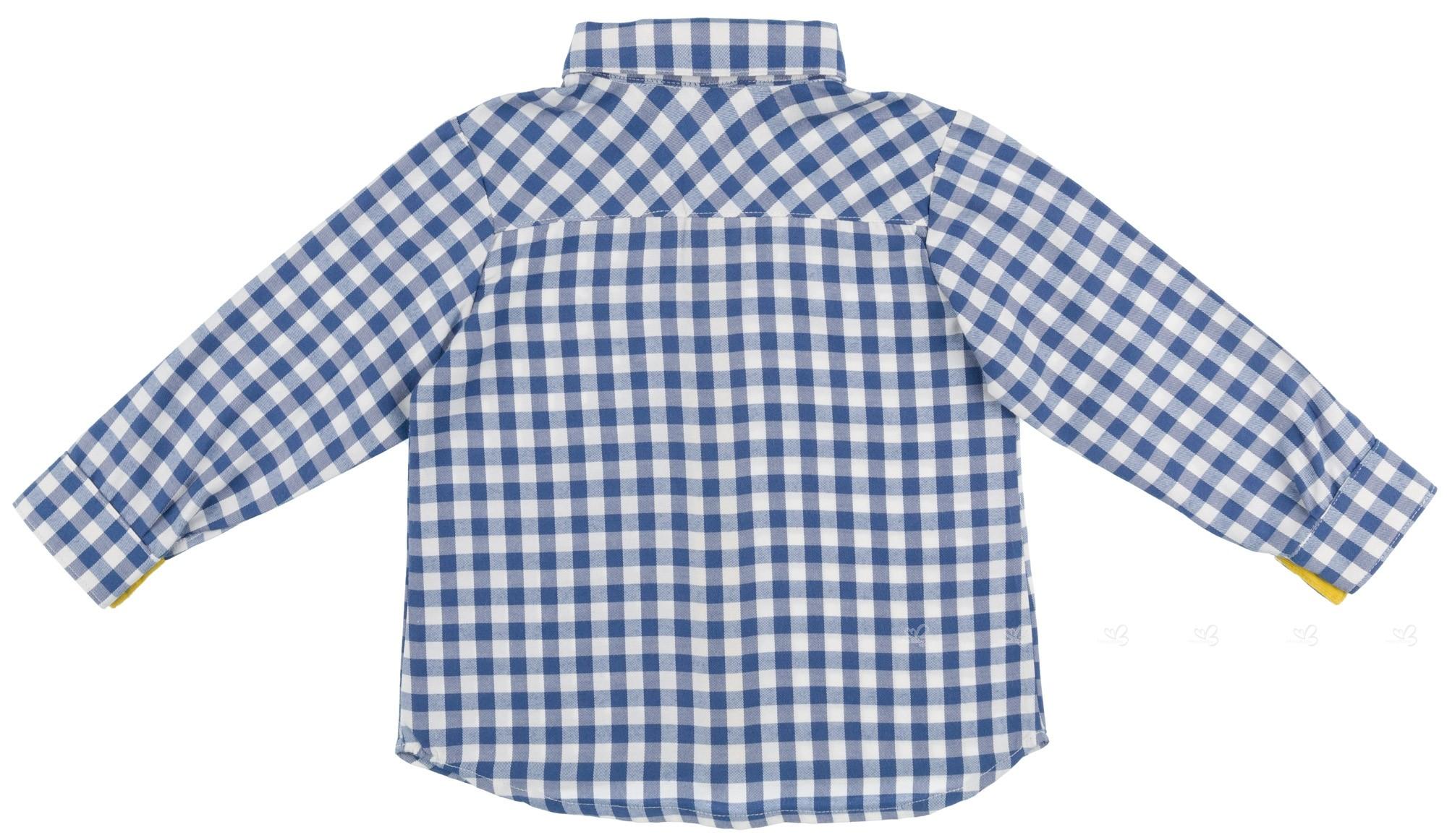 04745884 Rochy Boys Blue Gingham Shirt & Trousers Set | Missbaby