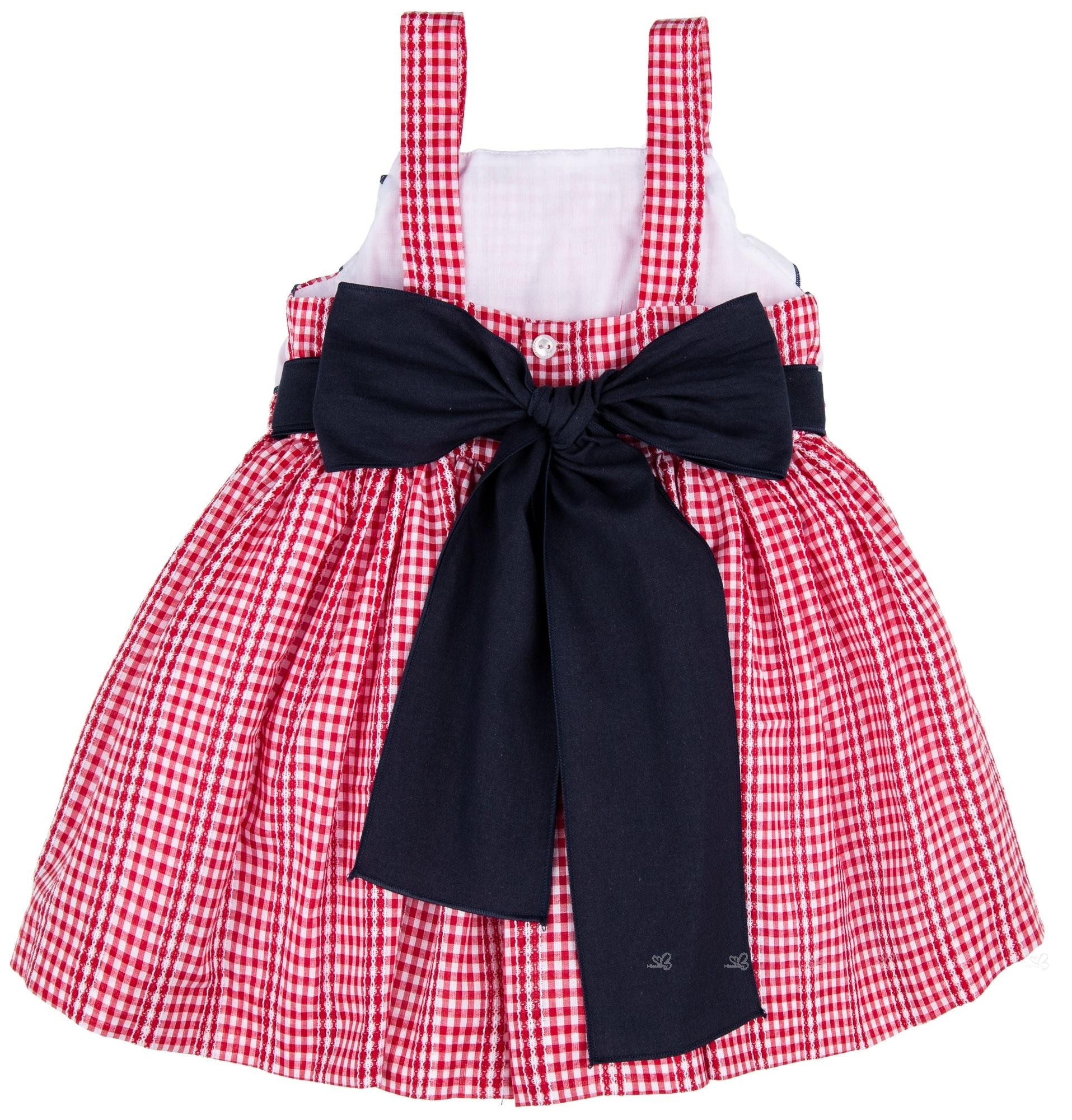89050cf9501 Home  Girls Red Gingham Dress   White Ruffles. Lappepa Moda Infantil  Vestido Niña Vichy Rojo   Volantes Fruncidos en Blanco · Lappepa Moda  Infantil Vestido ...