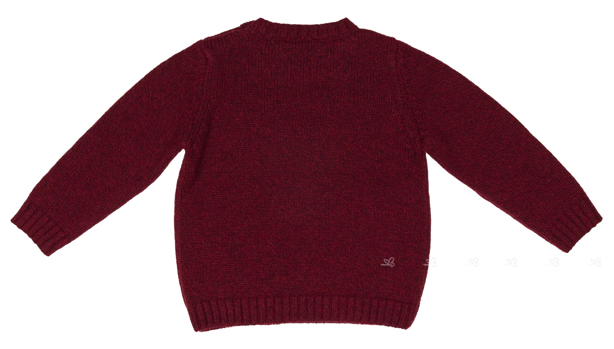 Girls Burgundy Deer Knitted Wool Sweater | Missbaby