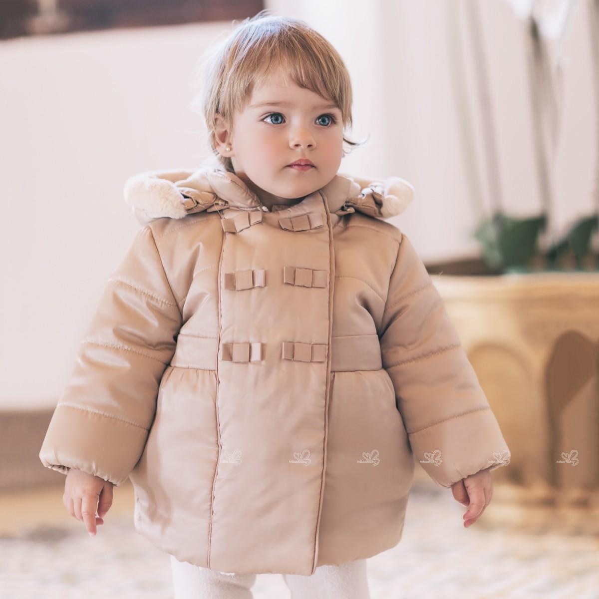 43c4c3f7f Dolce Petit Baby Girls Beige   Padded Jacket