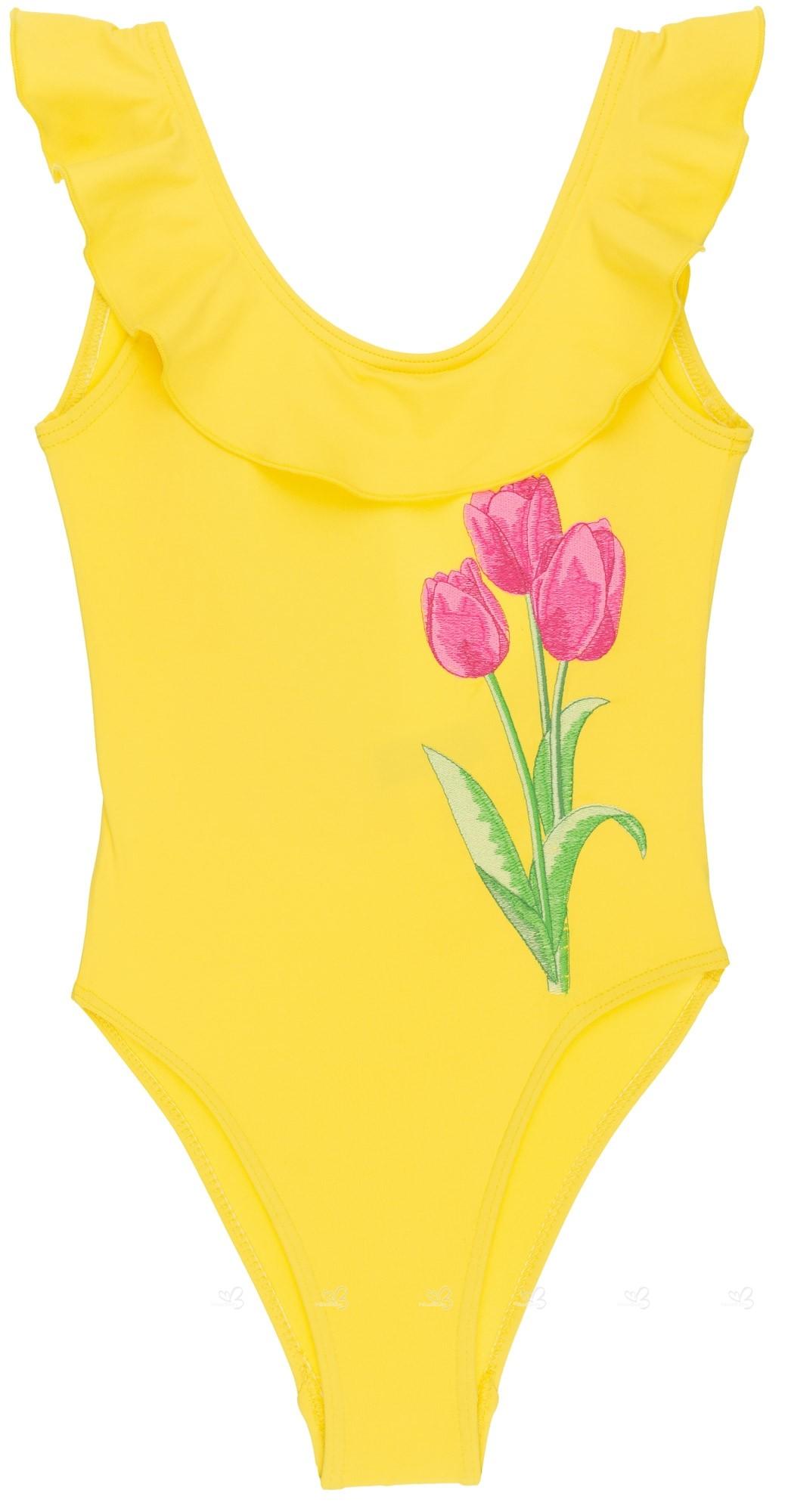 Ruffle Tulipamp; Girls Tulipamp; Swimsuit Girls Ruffle Yellow Yellow QdWrEoCxeB