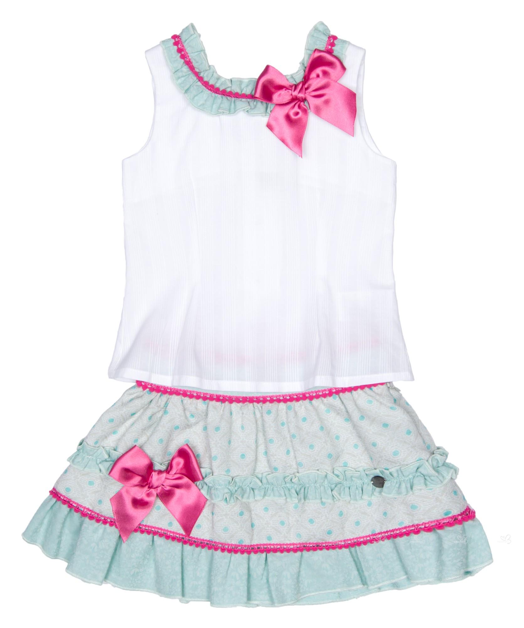 Dolce Petit girl dress white Dolce Petit Colección DOLCE PETIT Verano 2017