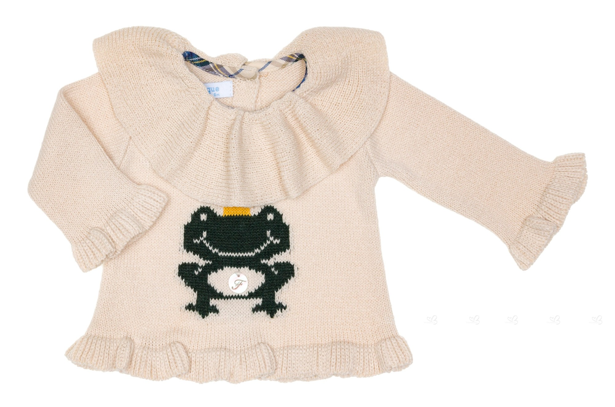 ... Baby Girls Beige U0026 Green Frog 2 Piece Shorts Set ...