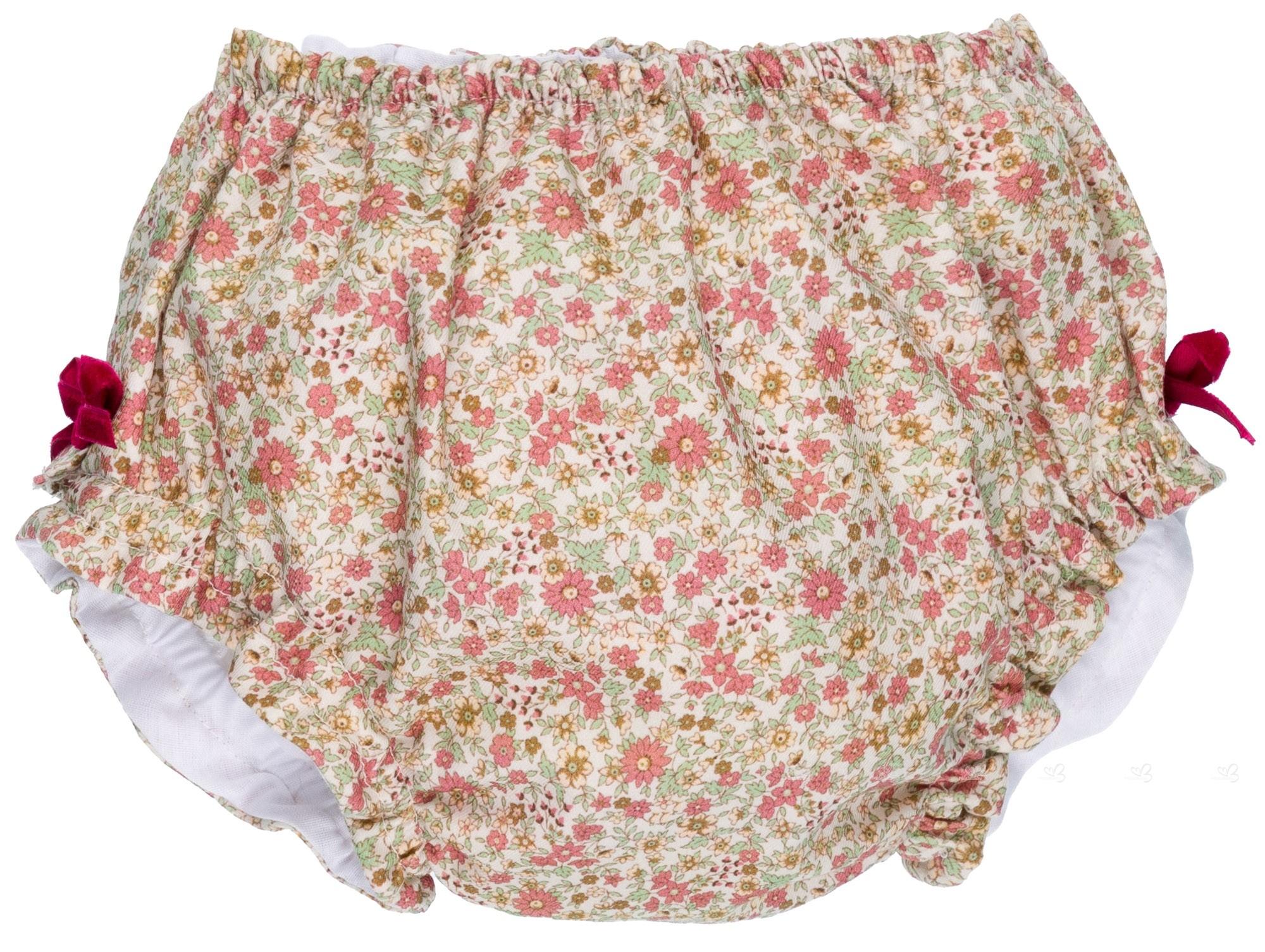 b823fe6cf0a8 Manuela Montero Baby Girls Burgundy Knitted Sweater   Flower Print ...