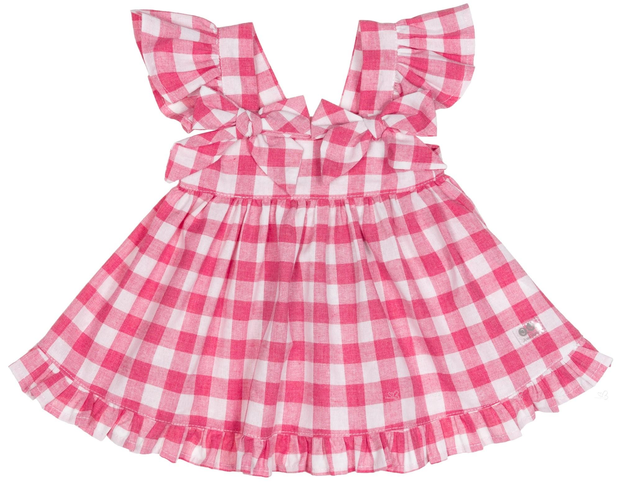 fa1bdc4a700 Home  Girls Red   White Gingham Dress. José Varón Vestido Niña Volante  Cuadros Vichy Rojo Blanco ...