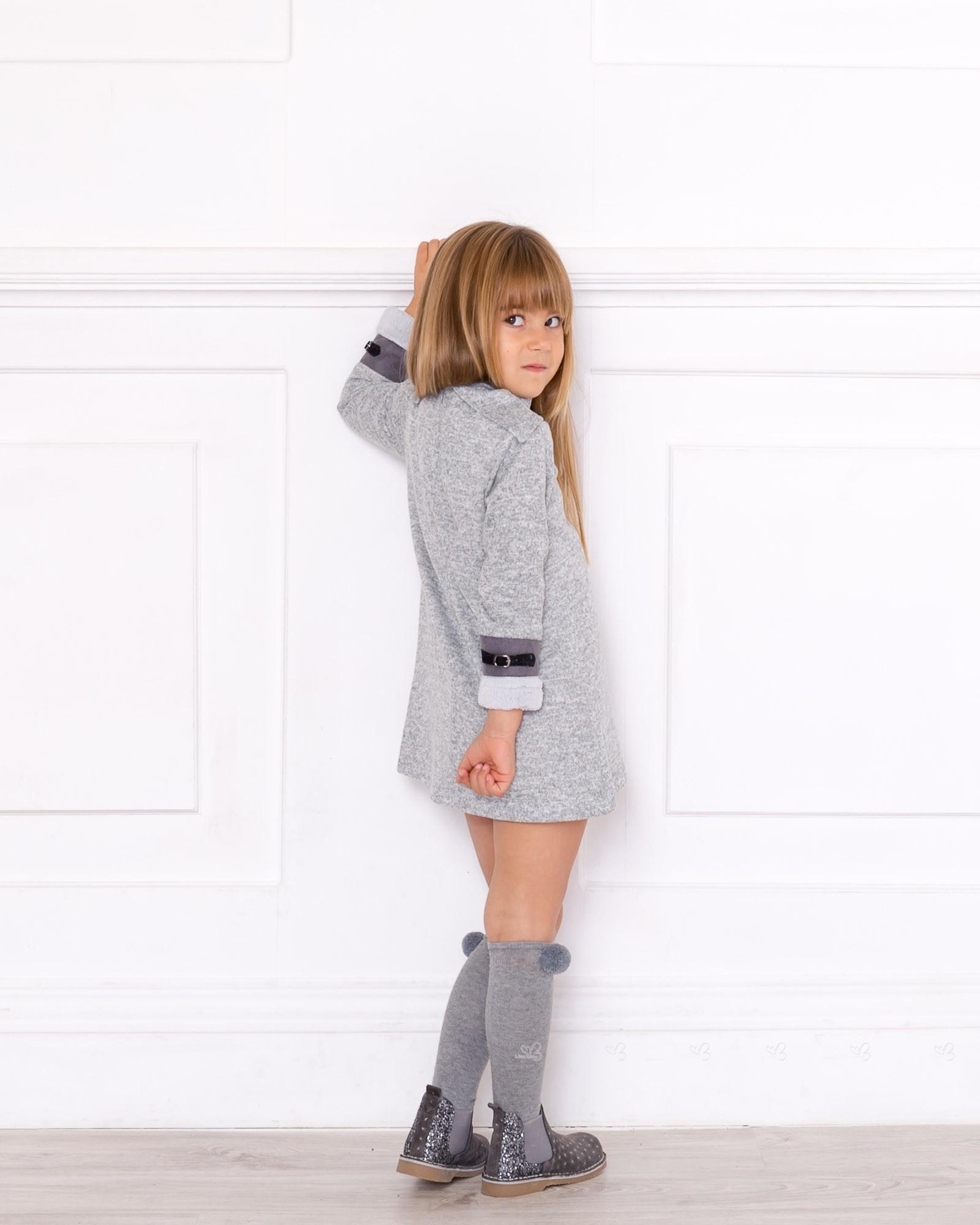 a47e1541543c ... Girls Grey Jersey Dress Outfit ...