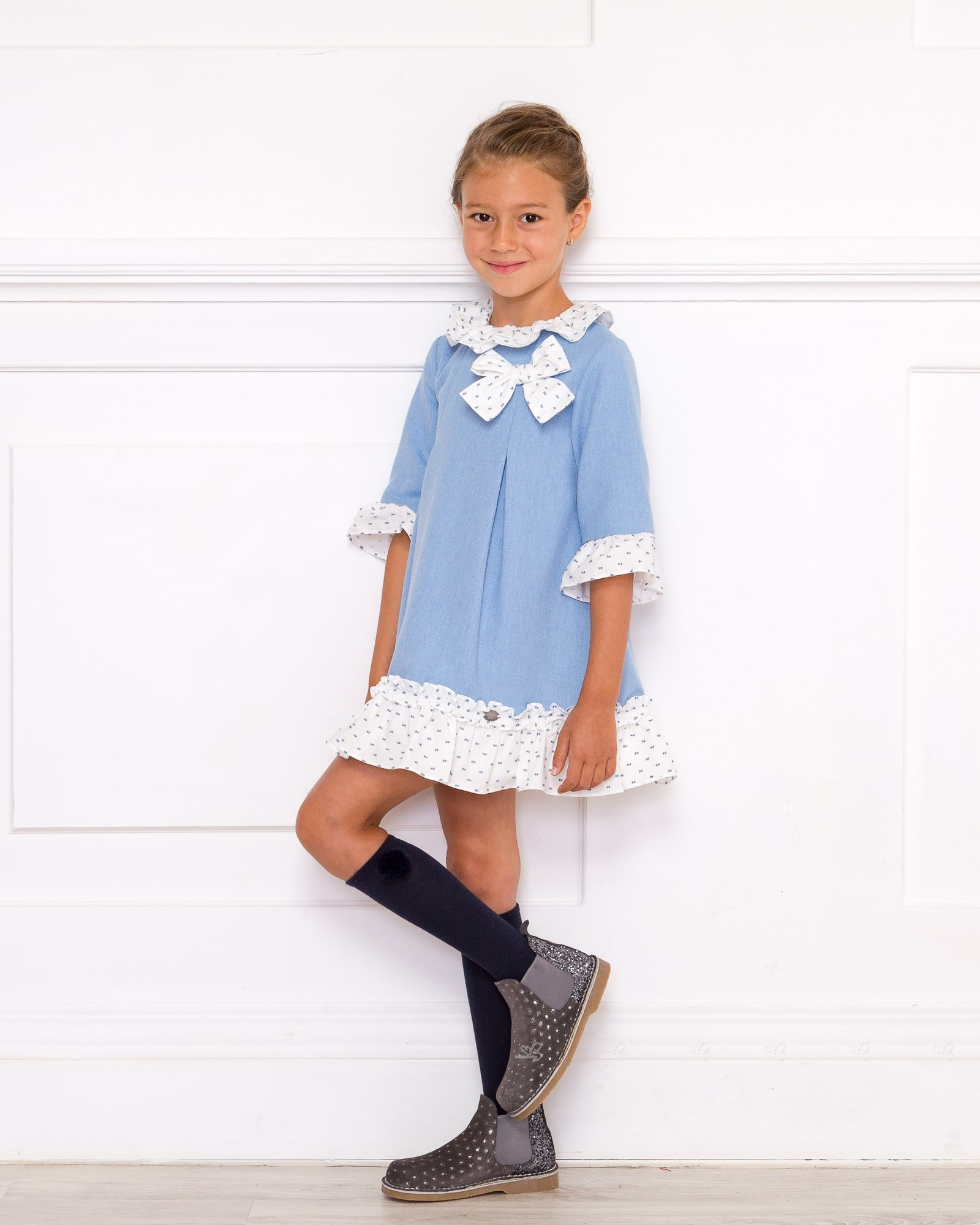 Girls Gray Suede u0026 Glitter Boots Outfit | Missbaby