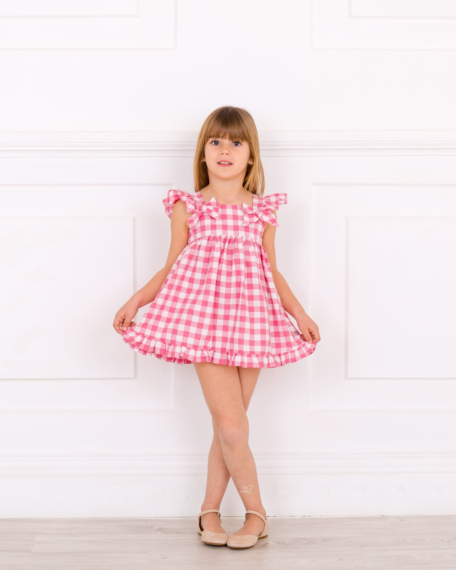 b0484262fab ... Rojo Blanco · Vestido Niña Vichy Rosa Volantes ...