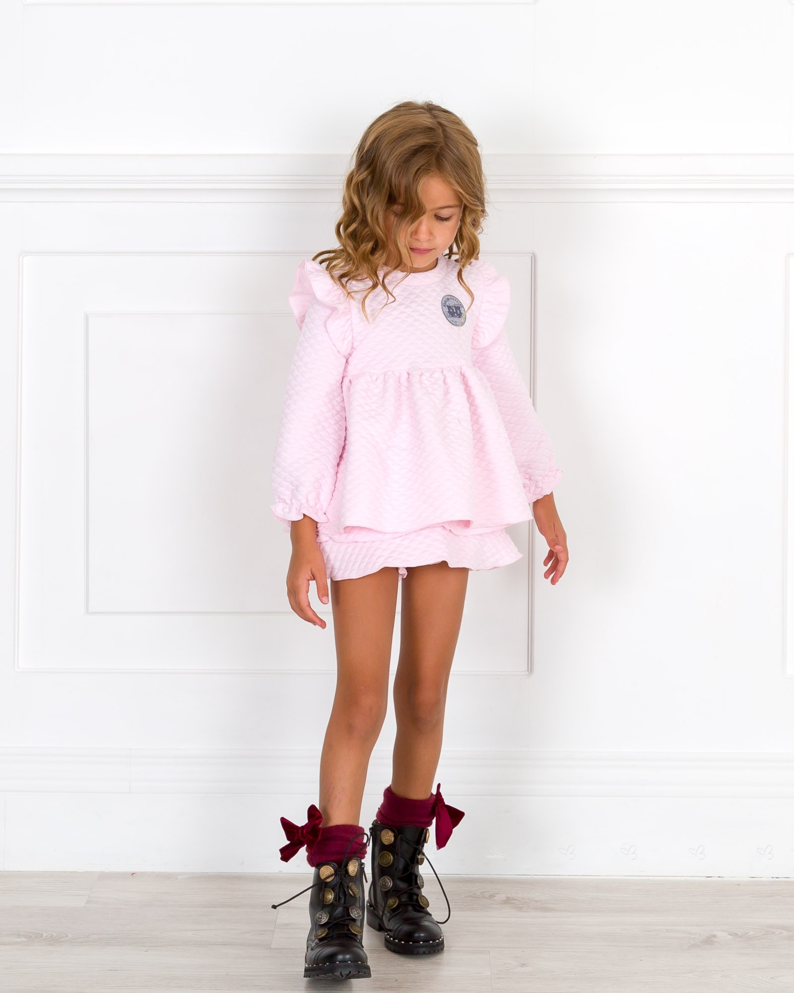 Sweatshirtamp; Collection Girls Pink Skort Set Pop Ruffle Loli qpLVjUzMSG